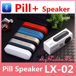 Wholesale New Pill XL Bluetooth Speakers Wireless Portable Speakers Handsfree Call Support FM TF USB U disk Music MP3 Player Lx In Stock