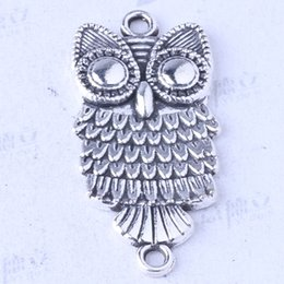 Owl charms antique Silver bronze alloy zinc Pendant DIY jewelry pendant fit Necklace 100pcs lot 3474