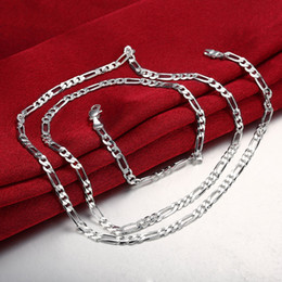 Wholesale 4MM Figaro Chain for DIY Jewelry Jewelry Making Ideas Classic Silver Plated Chain Necklace Fashion Jewelry Gift Inches