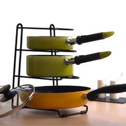 Wholesale 2016 Pot Pan Organizer Rack Cookware Holder Shelf Cabinet Kitchen Storage Tray Stand Freeshipping