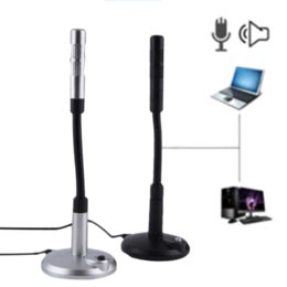 Wholesale New USB Desktop Microphone MIC for PC Laptop Chatting Degree Adjustable Cheap microphone ears