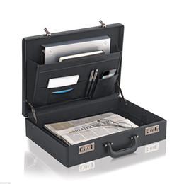 Wholesale Leather Like Briefcase Attache Bag Business Portfolio Men Handbag Hard Case Lock