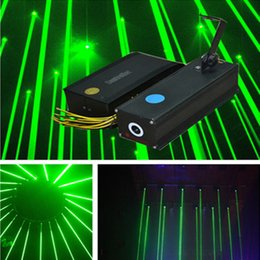Wholesale Blong G nm mw Green Laser Rain Light Equipment Stage Laser Light Amazing Effect Laser Lighting DJ Party Stage Light Disco Dance Clu