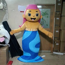 Wholesale Molly Mascot costume Bubble Guppies Character mermaid cartoon costume for Party fancy dress factory Direct Sale