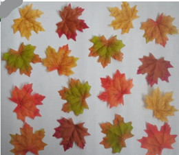 Wholesale 1000Pcs Artidicial Cloth Maple Leaves Multicolor Autumn Fall Leaf For Art Scrapbooking Wedding Party Decor Craft