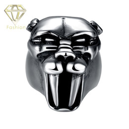 Design Your Own Ring 2016 New Fashion Punk Rock Animal Head 316L Stainless Steel Vintage Rings Trendy Jewelry for Men