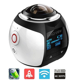 Wholesale Waterproof Degree Mini WiFi Panoramic Video Camera P fps MP Photo D Sports DV DVR Video And Image ABS Camcorder