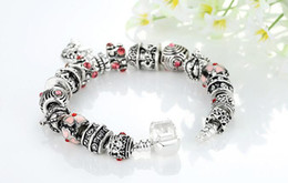 18cm 20cm 21cm crown beads glass beads accessories DIY Charm Women Fashion Jewelry European Style Bracelet 925 Silver Charm fit Bracelets