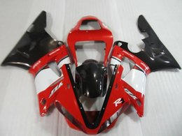Motorcycle Fairing kit for YAMAHA YZFR1 00 01 YZF R1 2000 2001 YZF1000 Red white black ABS Fairings set