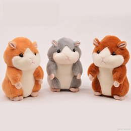 Wholesale 2016 New Arriving Cute Plush Hamster Undersized With The Function of Play Music and Greetings