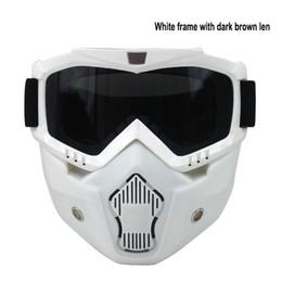 Hot vendiendo BEON modulares máscara de anteojos desmontables y filtro de la boca perfecta para la cara abierta motocicleta medio casco casco de la vendimia desde venta caliente de la motocicleta proveedores