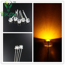 5000pcs lot 5mm Straw Hat Yellow Leds Urtal Bright Wide Angle Led Lamp Light Bulb 5MM DIP LED LED Emitting Diodes Wholesale