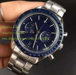 Wholesale Men s Quality Sea Planet Ocean CO AXIAL watches Blue dial Herie Chronograph Quartz Men s Watch Folding clasp