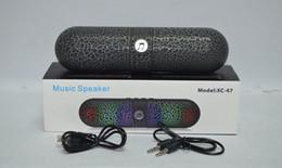 2016 Mini Wireless speaker pill LED Light speaker stereo pill speaker with LED light support TF card U-disk