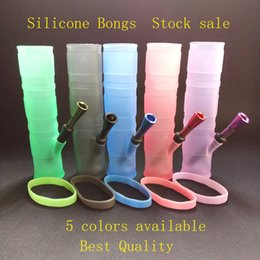Wholesale Portable Hookah Silicone Water Pipes for Smoking Dry Herb Unbreakable Water Percolator Bong Smoking Oil Concentrate Metal Plastic Pipe