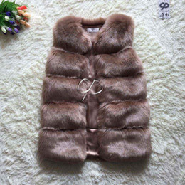 Desconto women s faux fur vest CP Brand Vest Mulheres Faux Fox Fur Vest Inverno Furry Shaggy Mulher Fake Fur Vest Moda Plus Size Fur Vests Alta Qualidade
