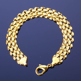 Wholesale 13MM Gold plated k Gold plated Fashion Charming Brand New Arriva Golden Bracelets Hot Sales Promotion Jewelry Cuban Link