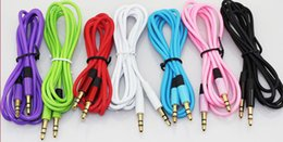 New 3.5mm audio cable cord Car Aux Extension Cable 120cm for mp3 for phone colorful in stock free DHL FEdex