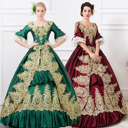 2018 women's fashion royal Embroidered Dance Performance Costume marie antoinette Princess Lolita Party Dresses can customized