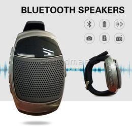 Wholesale Smart Wearable B90 Bluetooth Watch Speaker Handsfree Calling Portable Bluetooth Sport Music Speacker TF Card Playing FM Radio retail box