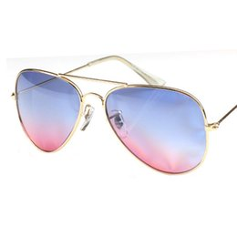 A223 classic male and female models sunglasses metal frame sunglasses retro sunglasses wholesale Gradient Color F405
