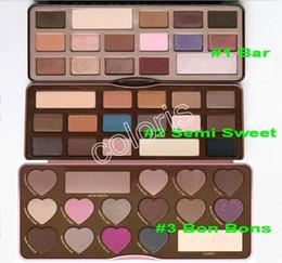 Wholesale Makeup Palette Chocolate Colors Colors Eyeshadow Bar Semi Sweet Bon Bons Palette