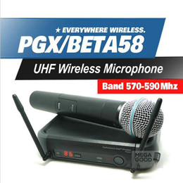 Microfono Free Shipping PGX PGX24 BETA58 UHF Wireless Microphone System Super Cardioid BETA Handheld Microfone For Karaoke Clear Sound