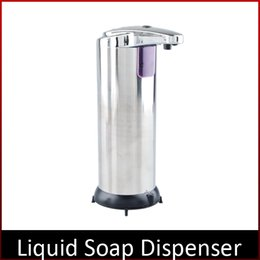Wholesale Automatic Sensor Soap Dispenser Base Wall Mounted Stainless Steel Touch free Sanitizer Dispenser For Kitchen Bathroom Wash Machine by DHL