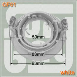 50pcs lot free shipping spotlight fitting GU10 MR16 holder downlight fittings downlight holder white face High quality Aluminum