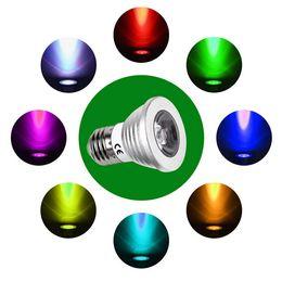 Wholesale Energy Saving W RGB GU10 E27 MR16 E14 LED Bulb Lamp light Color changing colors Spotlight with IR Remote control