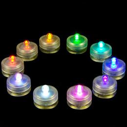 Luces individuales con pilas en venta-El mini LED submarino impermeable impermeable de las decoraciones del día de fiesta del té se enciende 2 Replaceabe CR2032 accionado a batería 100pcs / lot liberan el envío