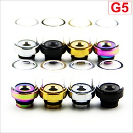 Glass 510 Drip Tip with wide mouthpiece stainless steel material for DCT Protank removable drip tip 510 style wholesale DHL Free