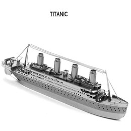 Wholesale In business DIY Novelty Titanic D three dimensional puzzle metal simulation model Metallic puzzle Metallic Nano Puzzle INBTG3P001