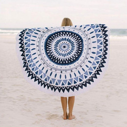 Wholesale Large Microfiber Printed Round Beach Towels With Tassel Circle Beach Towel Serviette De Plage