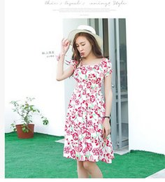 5pcs lot plus size summer loose dresses casual print lady dresses bohemian long dresses free shipping