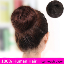 Wholesale new style real hair ball contracting package meatball head hair extensions real hair curls package package fluffy bud buns chignon