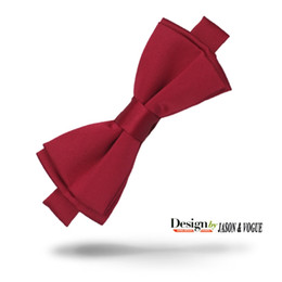 Wedding Red Bow Tie China Red Men's Tuxedo Party Adjustable Silk Bow Tie Gift Box F-004