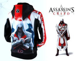 Wholesale Assassins creed Pull breeze cool clothes Animation game fleece men coats Men Hooded Jackets