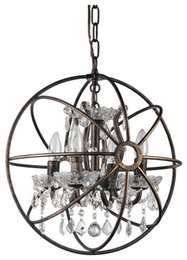 Pendant lights crystal pendant chandeliers Soft industrial style Iron Round lamps lighting Modern Luxury chandelier E14 indoor lighting