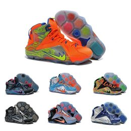 Wholesale Drop Shipping Men Retro Lebron Airs Authentic High Cut LB XII Outdoor Theme Costume Size