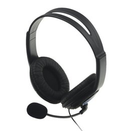 2016 new Wired Headset auriculares with Microphone and 6ft Cable For PlayStation 4 PS4 Headphone Black noise cancelling headphone