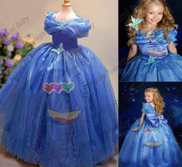Newest Girls Cinderella Ball Gowns Dresses Kids Sleeveless Floor Length Butterfly Tutu Skirts For Party Wedding Girl's Dancing Show Dress