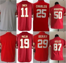 Wholesale Youth Kids Football Stitched Chiefs Blank Smith Maclin Charles Berry Houston Kelce White Red Jerseys Mix Order