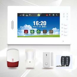 Quad lcd à vendre-Quadri bande sans fil GSM / PSTN système d'alarme 7 pouces LCD Full écran tactile couleur 868MHZ