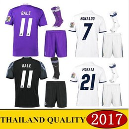 Wholesale Mixed buy DHL send Top best Real madrid jersey kit Alvaro Morata home away third black MODRIC BENZEMA RONALDO MARCELO SERGIO RAMOS jersey
