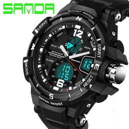 2016 New Brand SANDA Fashion Watch Men G Style Waterproof Sports Military Watches Shock Luxury Analog Digital Sports Watches Men