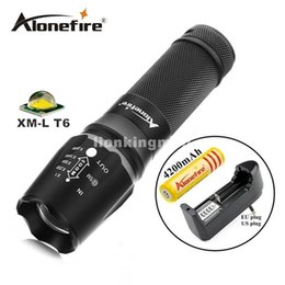 Wholesale X800 LM Zoomable light gun Tactical Flashlight CREE XML T6 LED adjustable flashlight Torch battery charger