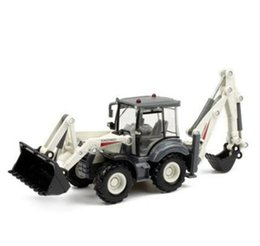 Wholesale 1 Alloy toy car truck excavator loader forklift two way toy car model