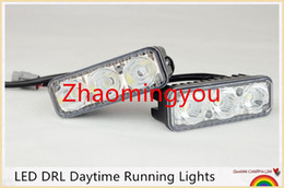 Universal 2Pcs Set LED DRL Daytime Running Lights Work Lamps Car Styling Light Source Waterproof Fog Parking Lamp For 4X4 SUV