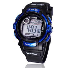 Gray Boy Men Digital Glow LED Quartz Alarm Date Sports Waterproof Wrist Watch PU Band Fashion Design High Quality Brand New